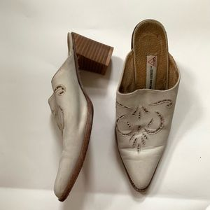 Guess by Georges Marciano gray vintage mules 37.5